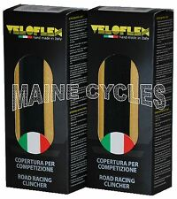 Veloflex Master clincher 700 X 25 black / gum sidewall 2 tires (1 pair)