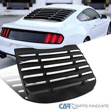 For 15-18 Ford Mustang GT Racing Black ABS Rear Window Louver Sun Shade Cover