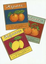 Lot of 3 Authentic Unused Vintage Labels ca 1950 Greek Melissa-FREE SHIPPING