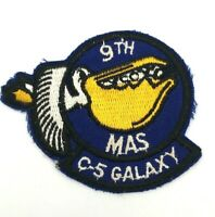 9th MAS C-5 GALAXY MILITARY AIRLIFT USAF AIR FORCE PATCH Vintage ORIGINAL
