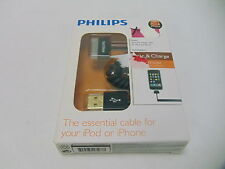 Philips DLM75006/17 Iphone & Ipod Sync & Charge Coiled Cable Brand New Free Ship
