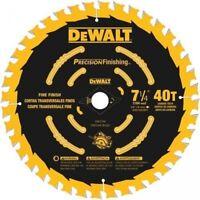 """DEWALT DW3194 7-1/4"""" x 40 Tooth Precision finishing saw blade"""