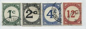 British Guiana 1940-55 1 cent to 12 cents Postage Dues used