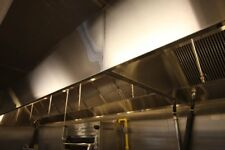 12' Wall Canopy Hood, Fan, Direct Fired Heated Makeup Air Unit System