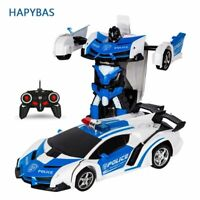 RC Transformer 2 In 1 Sports Car Transformation Deformation Car Robot Toy