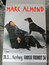 German European Rock Roll Concert Poster Marc almond A Bizarre Production Intro