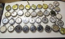 Watches, Dials, Backs, Stems 200 pcs. Huge Lot Of Vintage American Dollar Pocket