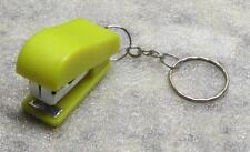 Mini Yellow STAPLER School Office for Paper KEY CHAIN Ring Keychain NEW