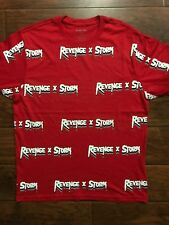 Revenge X Storm All-over Print Red Tee Shirt Size Large Ian Connor Supreme