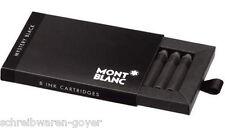 Cartuchos de tinta Montblanc negro mysteryblack 105191 8pzs. en estuche