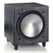 MBILDSCHIRMONITOR AUDIO BRONZE W10 SCHWARZ OAK AKTIVER SUBWOOFER