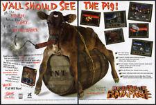 REDNECK RAMPAGE__Original 1997 print AD / game promo__Interplay advertisement