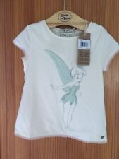 Girls Disney Tinkerbell Short Sleeve Top Cream New Tags Courage & Kind