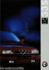 Prospekt Alfa 33 S 16V Permanent 4 Autoprospekt 9201-2145 Broschüre brochure PKW