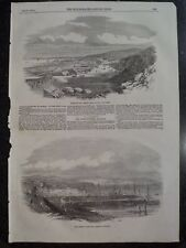 Trieste Port City Italy Adriatic Coast Two Views 1854 Illustrated London News