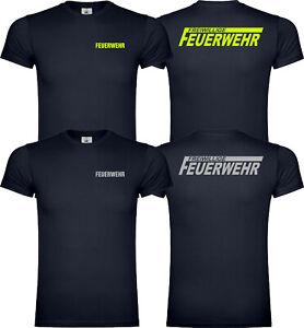 Kinder Freiwillige Feuerwehr T-Shirt Shirt Reflektierend Unisex Versch. Farben