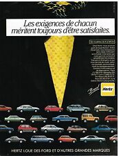Publicité Advertising 1983 Location de Voiture Hertz