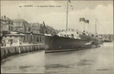 Dieppe France Steamship Paquebot Steamer Ship ROUEN c1915 Postcard #2