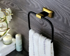 BLACK GOLD Bathroom brass Modern Square towel ring new