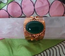 Knuckle Ring Copper Green Stone