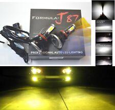 LED Kit G5 80W H9 3000K Yellow Head Light Two Bulbs High Beam Upgrade 4 Side