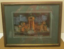 Vintage Serigraph OLD ARMORY OSU by BILL APTER Pro Matted & Framed!! NICE!! NR!!