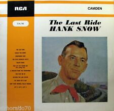 HANK SNOW The Last Ride LP - Mono