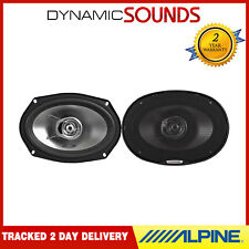 "ALPINE 6""x9"" 6x9 560W 2-way SXE Car Rear Deck Oval Shelf Speakers Brand New Pair"