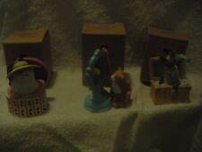 Avon Christmas Dress Up Cat ornament set of 3 mirror hat box jewelry box NIB