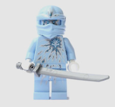 lego Ninjago nrg zane Minifigure w/ sword weapon Blue Ice Energy Ninja 9590 new