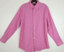 Bobby Jones Mens L Pink Plaid Button Down Shirt # 15