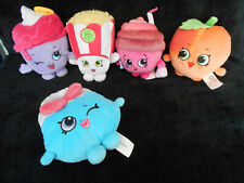 Shopkins Stuffed Toys Collectible Plushies Lot Of 5
