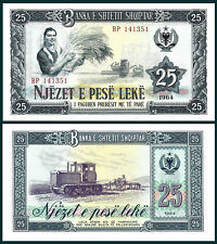 ALBANIA 1964 - 25 leke - BANKNOTE - UNC