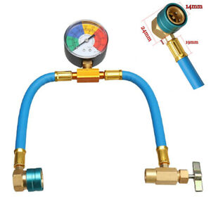 A/C R1234yf Charging Hose w/Manifold Gauge Coupler Kit Fit For Car Air-condition