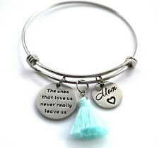 Mom Bangle Bracelet, Stainless Steel Adjustable Bracelet, Inspiration Jewelry,