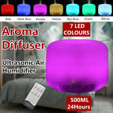 7Led 500Ml Aroma Diffuser Humidifier Essential Oil Aromatherapy Remote Control