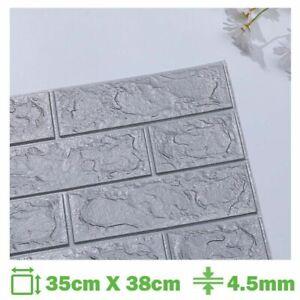 Foam 3D Brick Wall Sticker Self Adhesive Wallpaper Panel Home Decor Room DIY