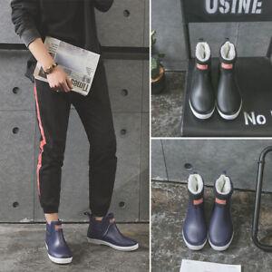 UK Mens Short Wellington Wellies Waterproof Boots Rain Shoes Garden Fishing Size
