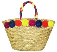 **I.N.C INTERNATIONAL CONCEPTS LIVIE POM Tan Straw Tote Bag Msrp $99.50