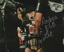 Andrea KGB Lee Signed 8x10 Photo UFC Invicta FC Picture Autograph LFA MMA Champ