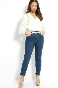 MOM RELAXED JEANS TAPERED DENIM TROUSERS X NEW LOOK WOMENS CASUAL PANTS 6 TO 18