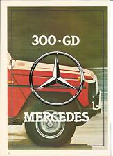 ESSAI ARTICLE PRESSE REPORTAGE MERCEDES 300 GD 8 PAGES ANNEE 83
