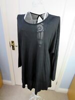 New MASAI CLOTHING COMPANY Black Jersey Tunic Top Size L Top Lagenlook Evening