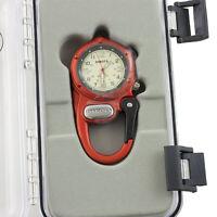 Dakota Orange Mini Clip Microlight Watch Carabiner 3805 Aluminum Water Resistant