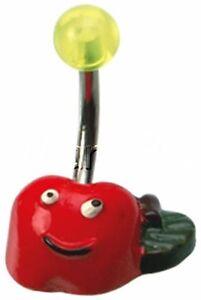 Belly Button Ring Navel Piercing Cartoon Apple Fruit Acrylic Plastic Ferido