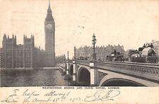 BR79964 westminster bridge and clock tower  london  uk