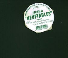 Etiquette de fromage vignette auto collante ferme des Neuftables  No 278
