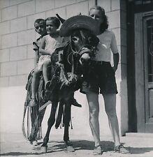 VALENCE c. 1950 -  Promenade à Dos d'Âne   Espagne - DIV 6696
