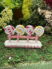 Dollhouse Fairy Gnome Garden Accessory Hobbit Lollipop Fence Fencing Sweet Treat