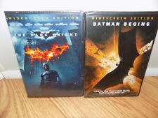 The Dark Knight and Batman Begins 2 Dvd lot both Brand New! Widescreen Editions